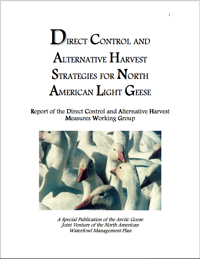 Direct Control and Alternative Harvest Strategies for North American Light Geese
