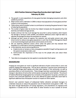 AGJV Position Statement
