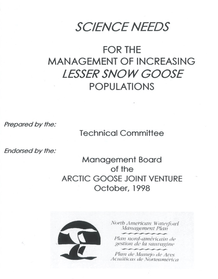 Science needs for management of overabundant snow geese
