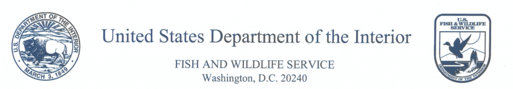 USFWS Response to Pacific Flyway Inquiry for Conservation Order Regulations